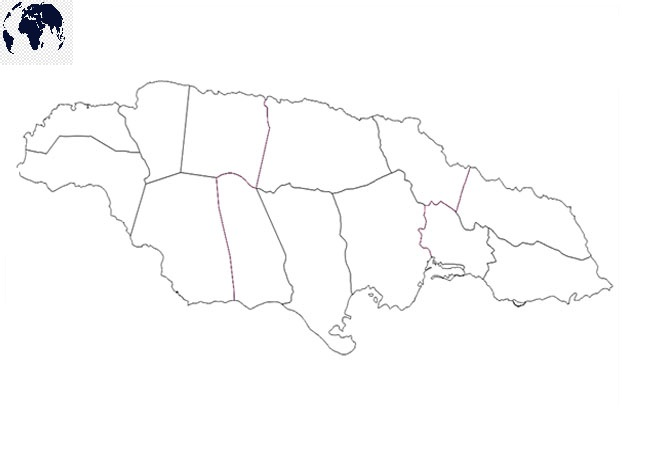 Map of Jamaica for Practice Worksheet