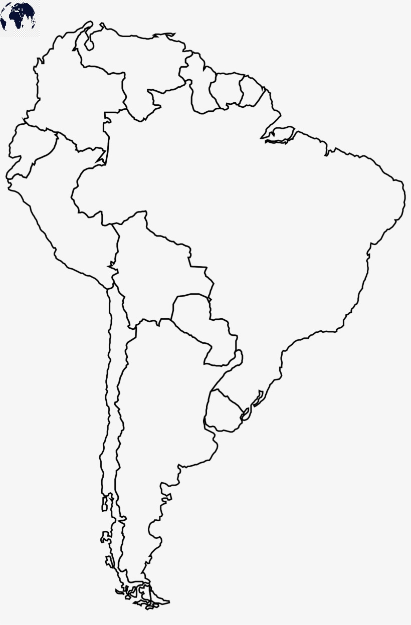 Map of South America for Practice Worksheet