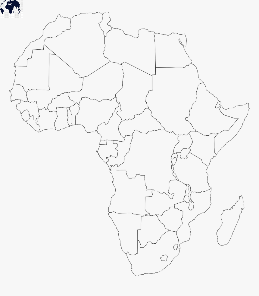 Political Map of Africa Blank