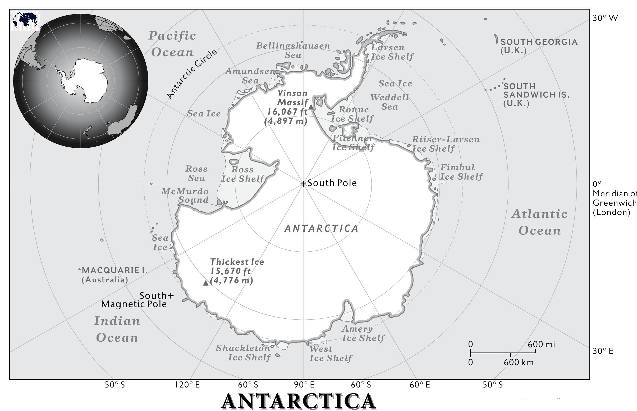 Political Map of Antarctica Blank