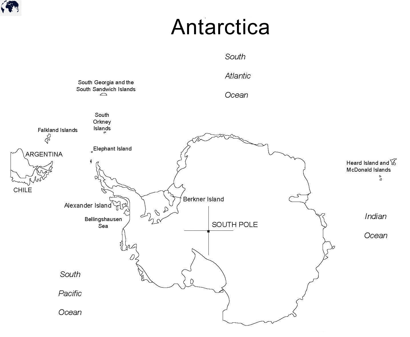 Printable Map of Antarctica