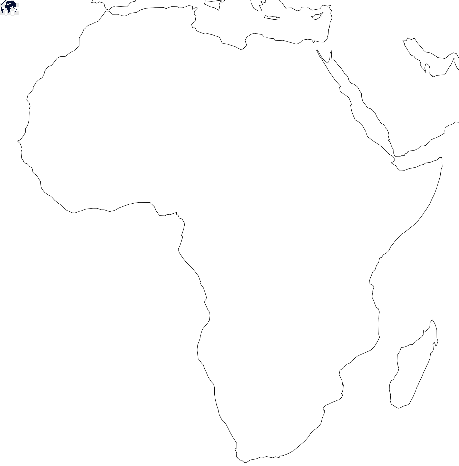 Transparent PNG Africa Map