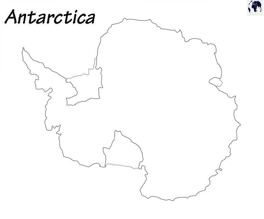 Transparent PNG Antarctica Map