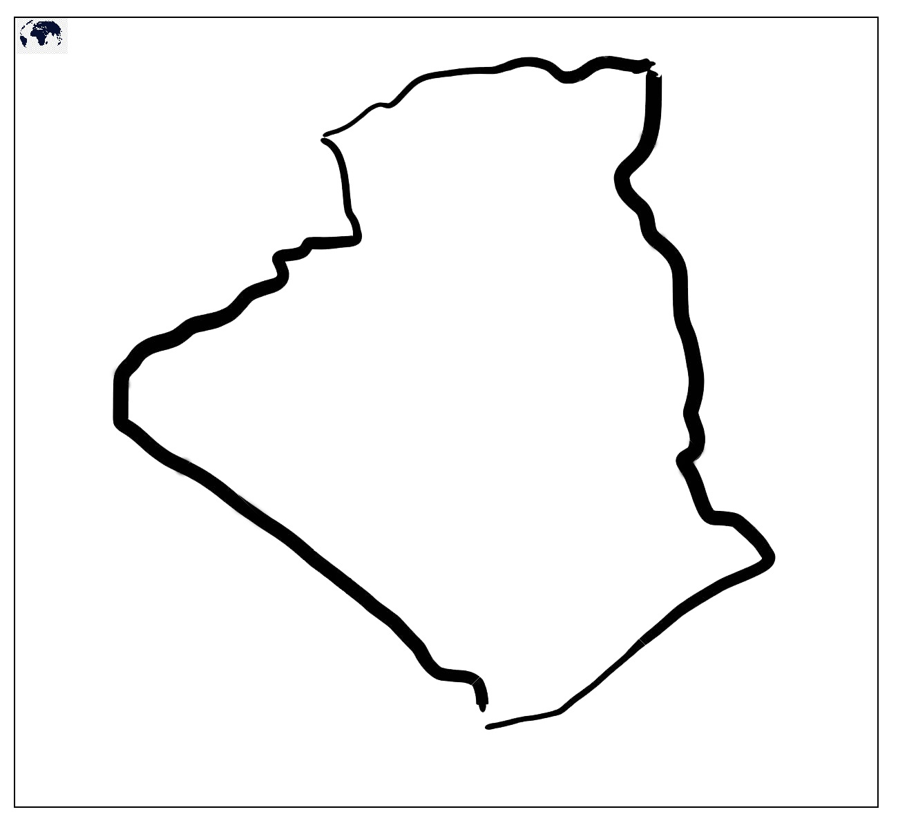 Transparent PNG Blank Algeria Map