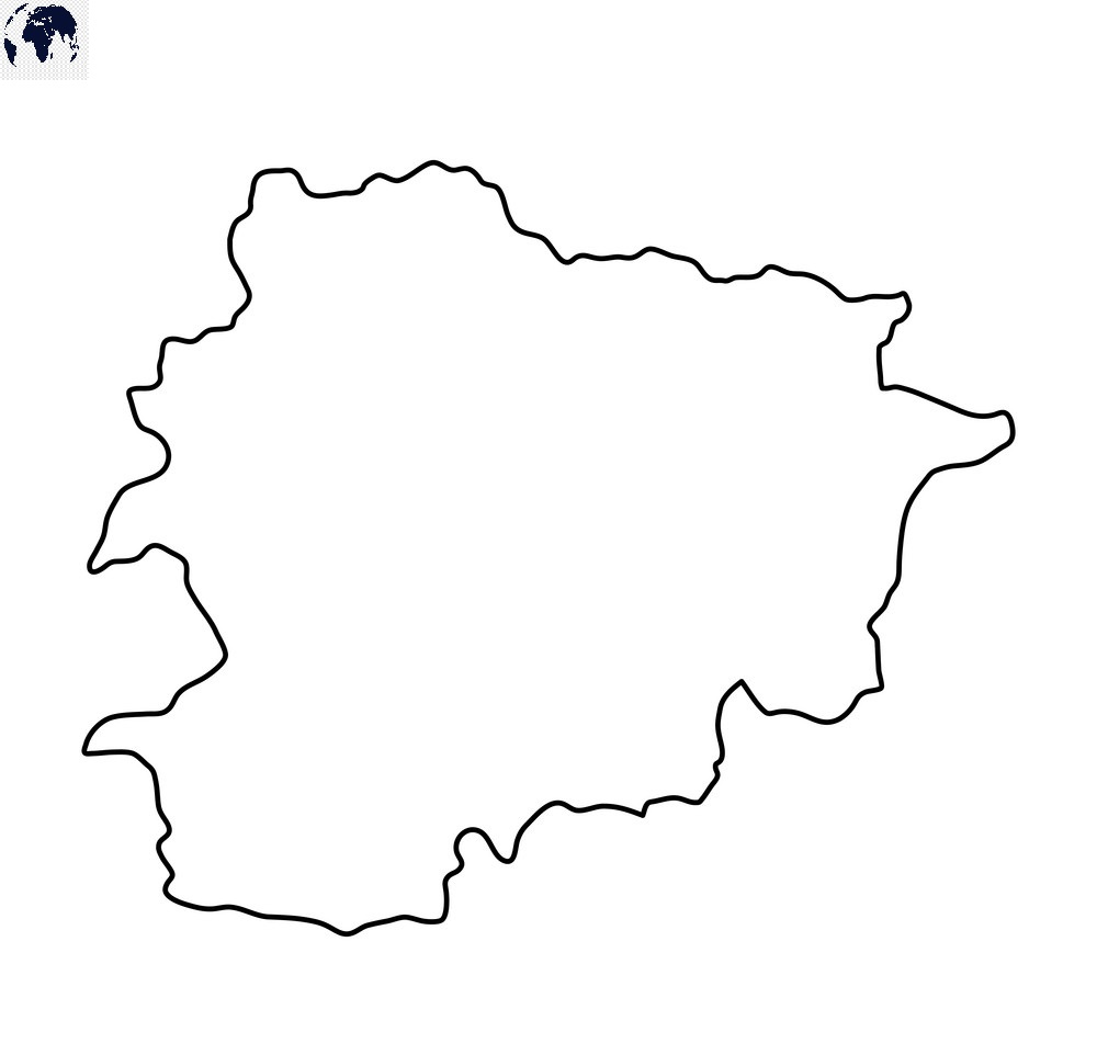 Transparent PNG Blank Andorra Map