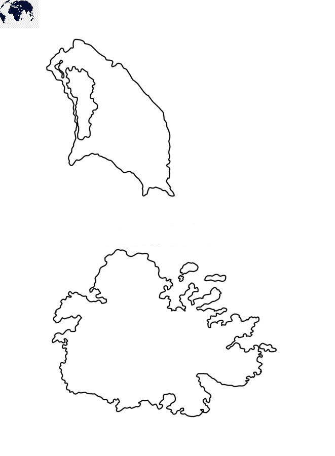 Transparent PNG Blank Antigua and Barbuda Map