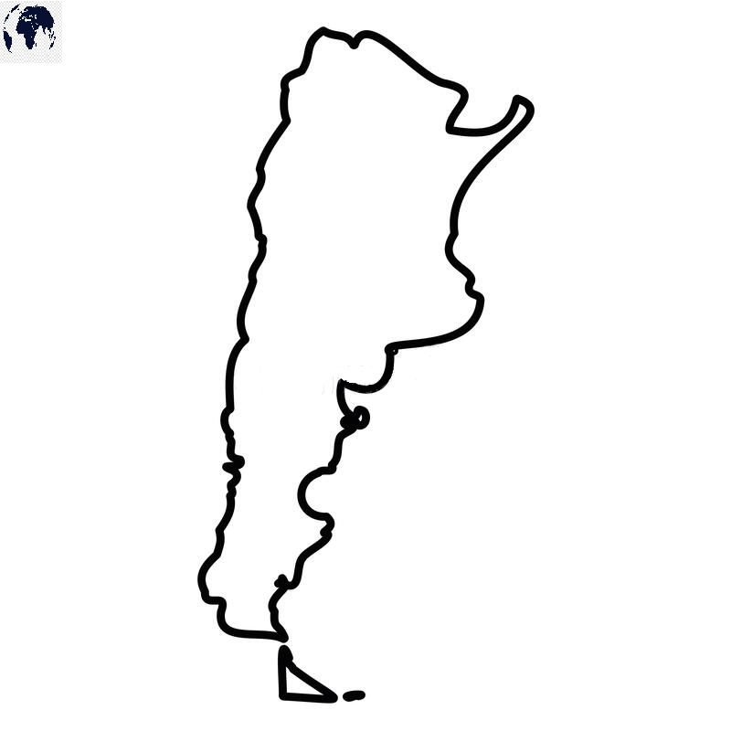 Transparent PNG Blank Argentina Map