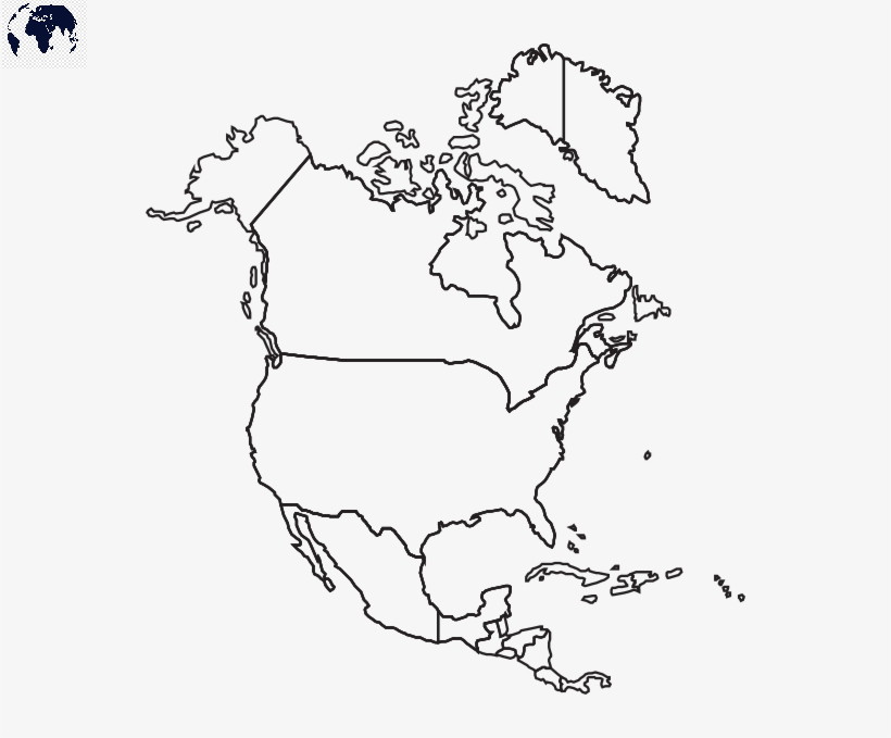 Transparent PNG North America Map