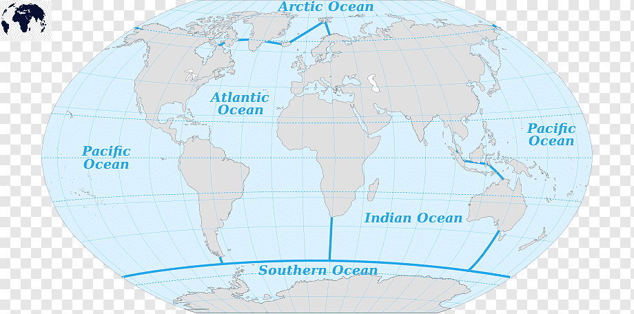 World Map with Arctic Ocean
