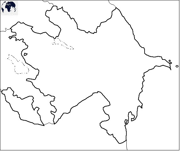 Blank Azerbaijan Map – Outline