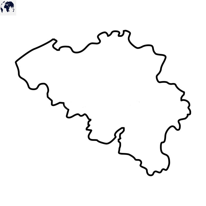 Blank Belgium Map – Outline