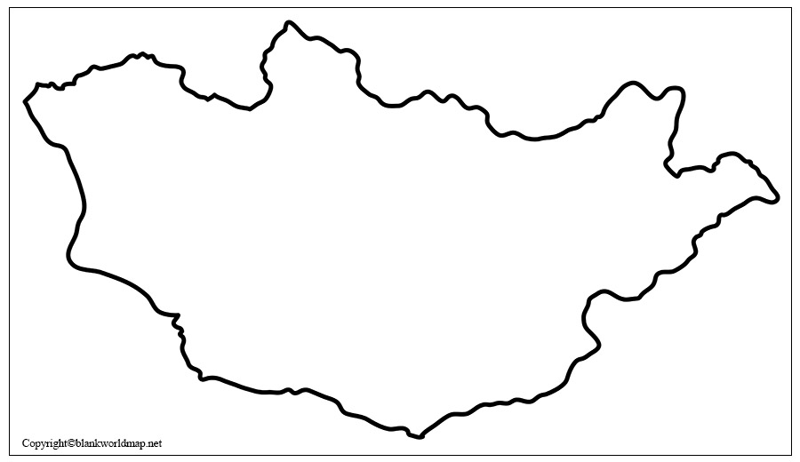 Map of Mongolia for Practice Worksheet
