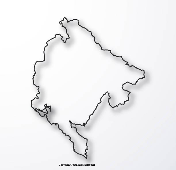 Map of Montenegro for Practice Worksheet