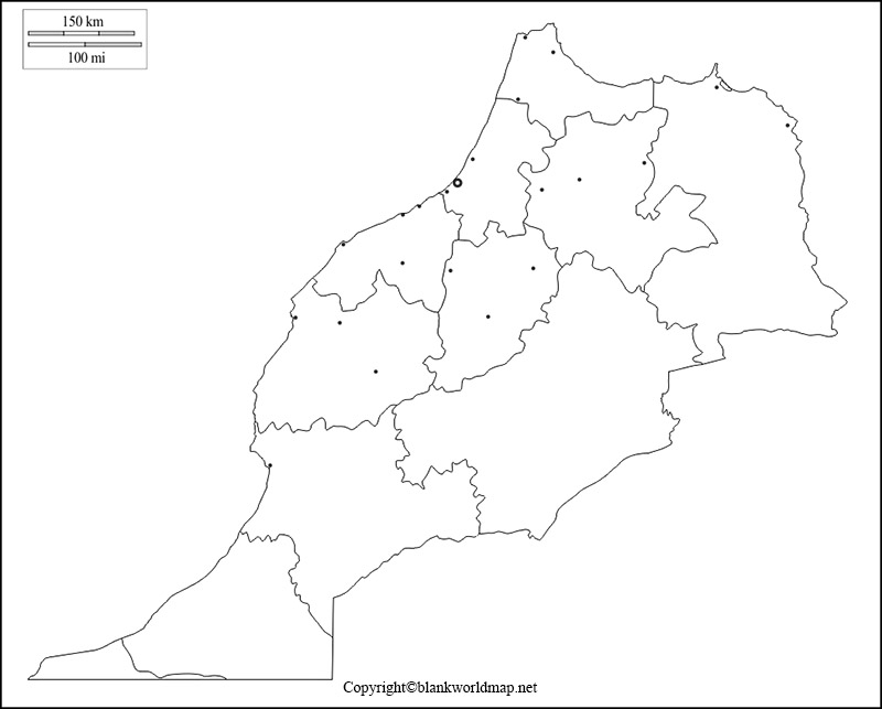 Map of Morocco for Practice Worksheet