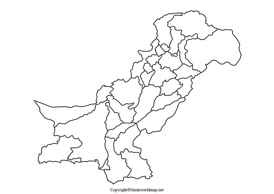 Transparent Pakistan PNG Map