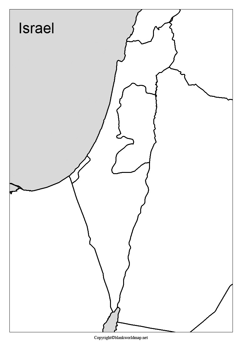 Map of Palestine for Practice Worksheet