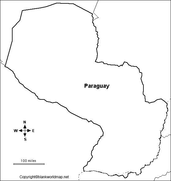 Map of Paraguay for Practice Worksheet