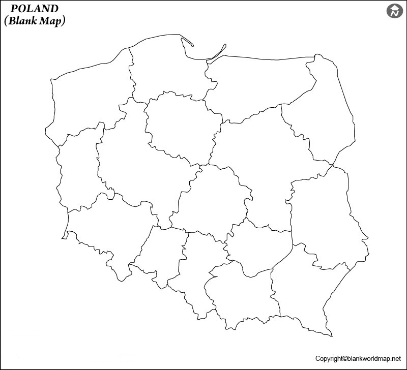 Map of Poland for Practice Worksheet