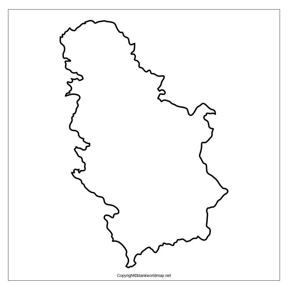 Map of Serbia for Practice Worksheet