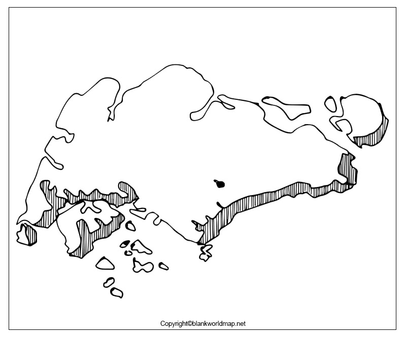 Map of Singapore for Practice Worksheet