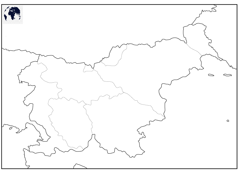 Map of Slovenia for Practice Worksheet