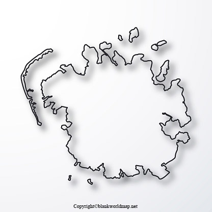 Micronesia Blank map Outline