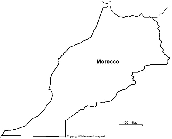 Morocco Blank map Outline