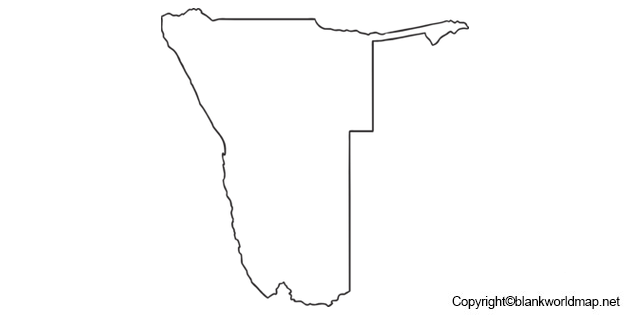 Blank Namibia Map Outline