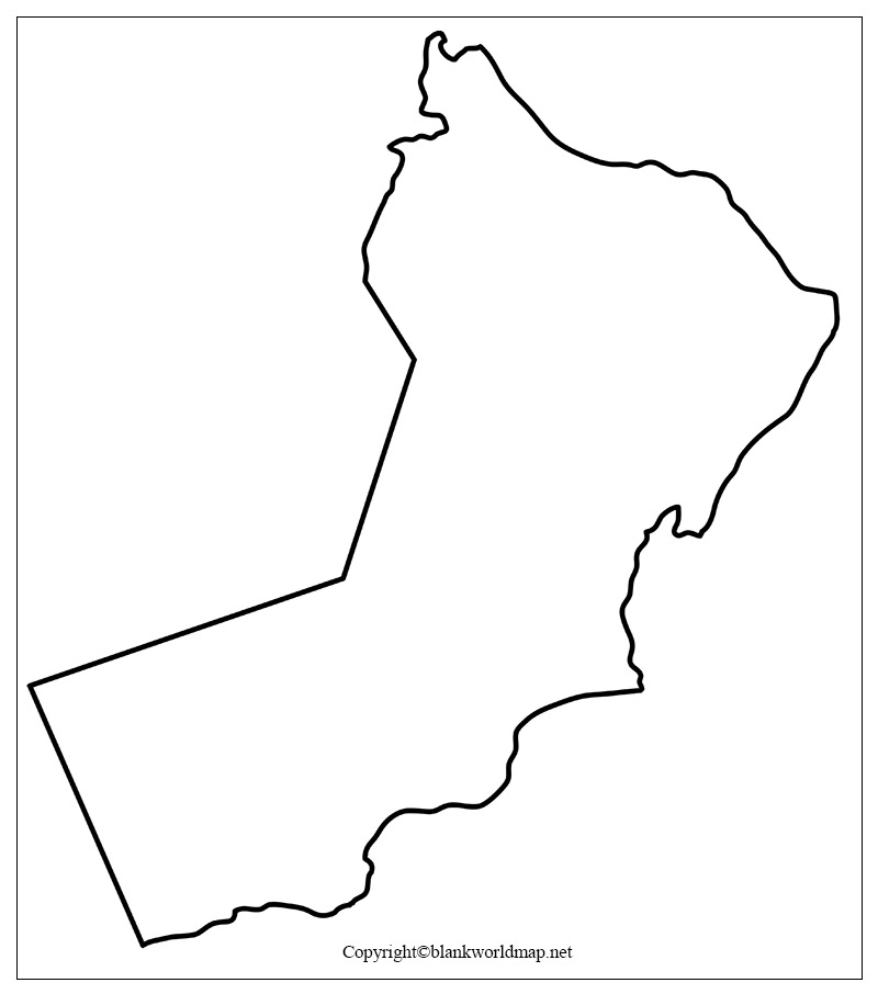 Blank Oman map Outline