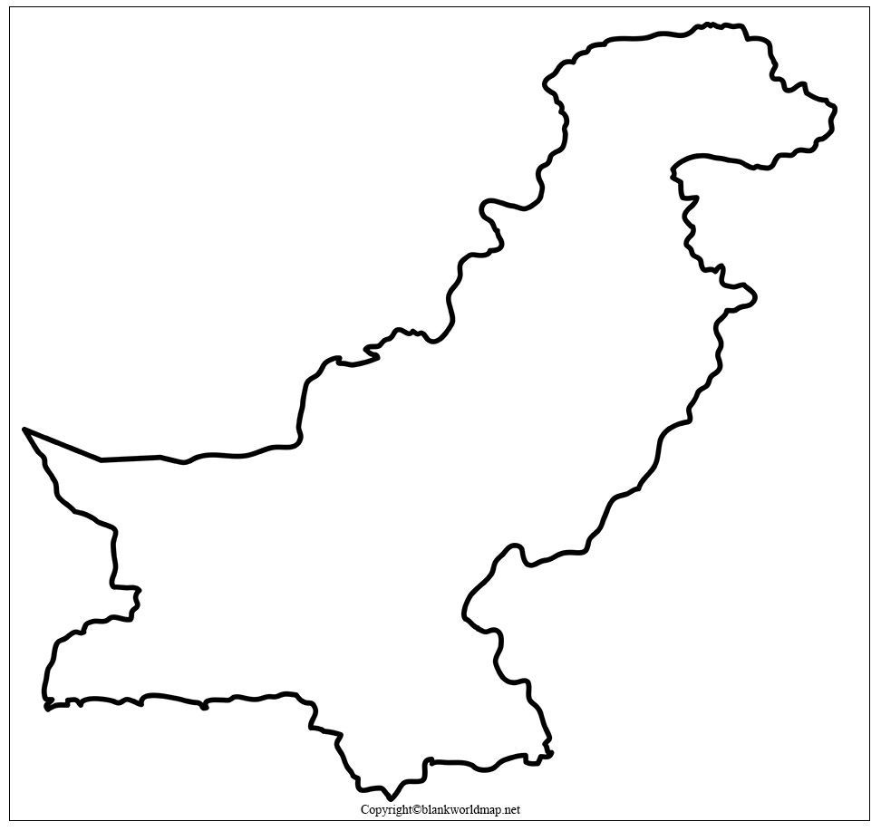 Pakistan Blank map Outline