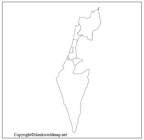 Blank Palestine State Map