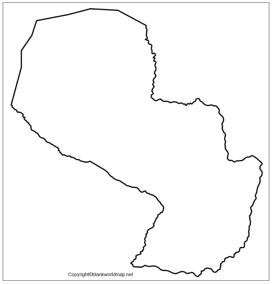 Paraguay Blank Map Outline