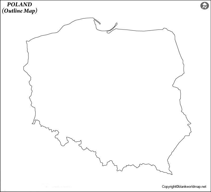 Blank Poland Map Outline