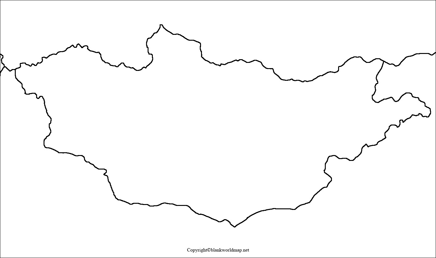 Printable Map of Mongolia