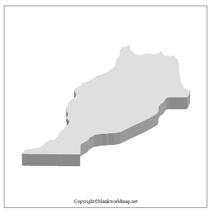 Printable Map of Morocco