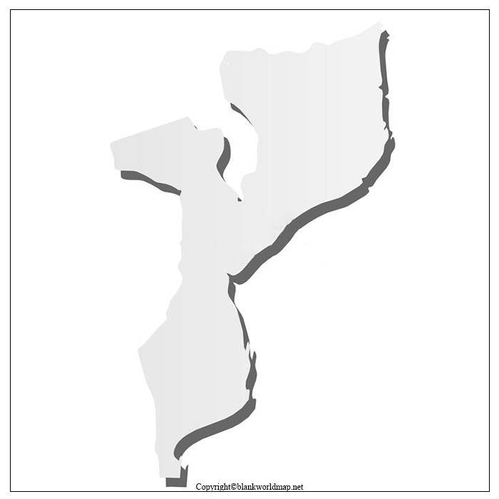 Printable Map of Mozambique