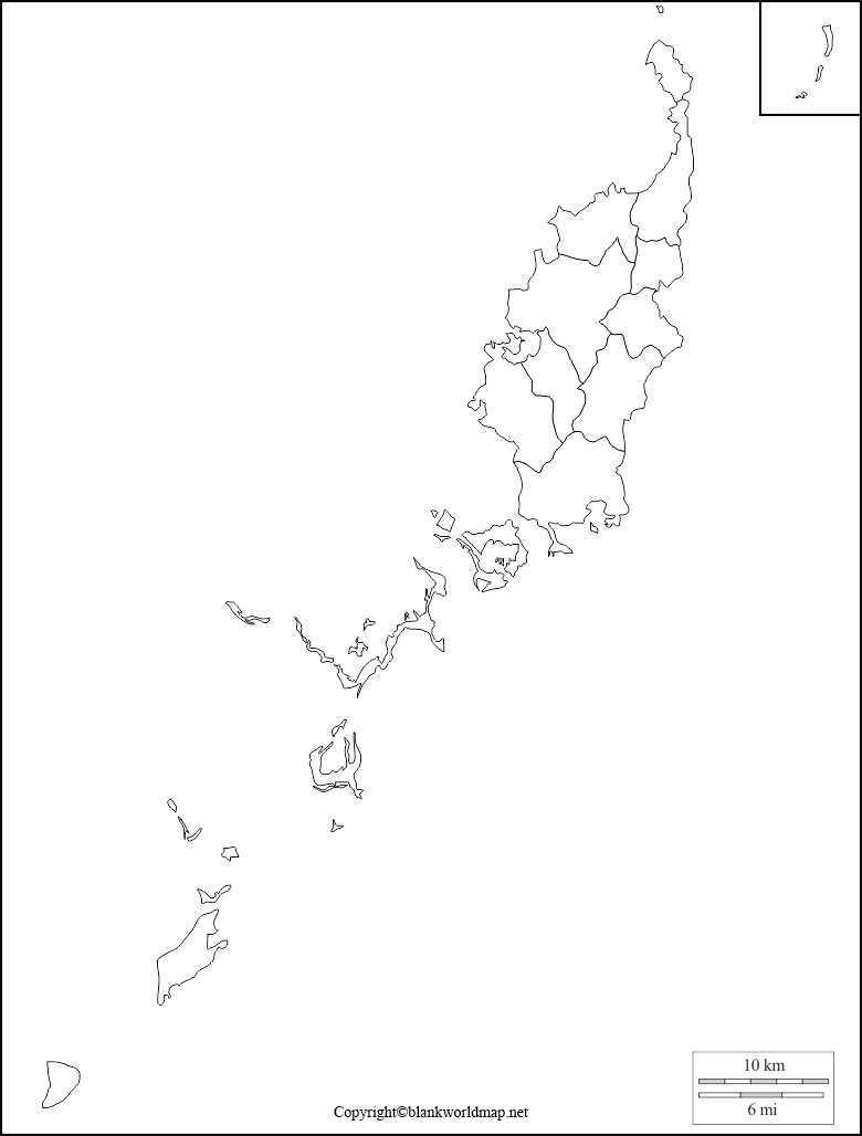 Printable Map of Palau