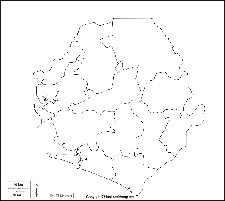 Printable Map of Sierra Leone