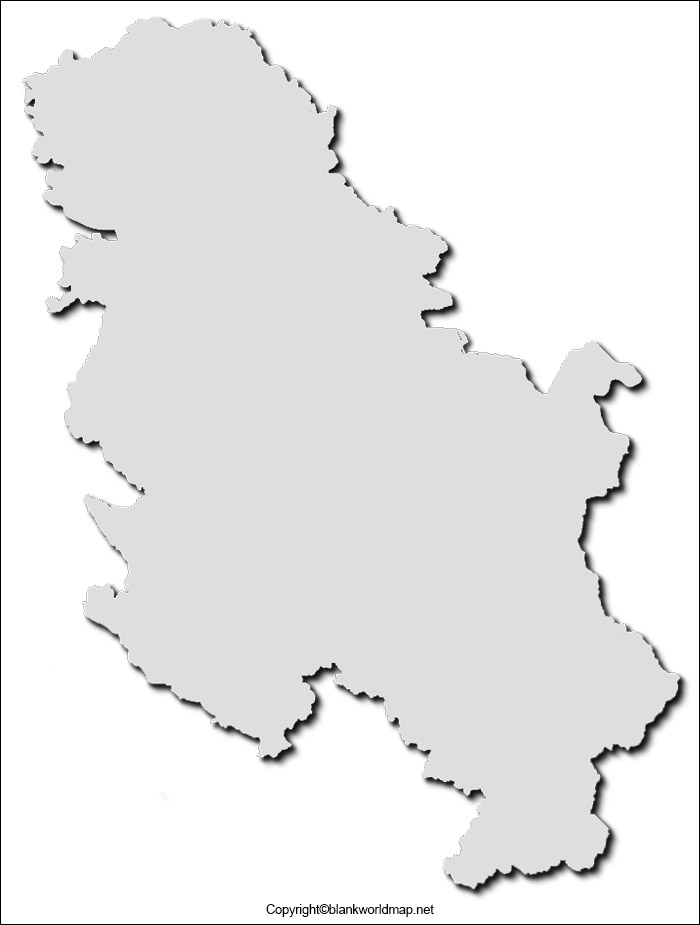BlankSerbia Map Outline