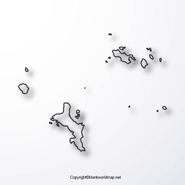 Blank Seychelles Map Outline