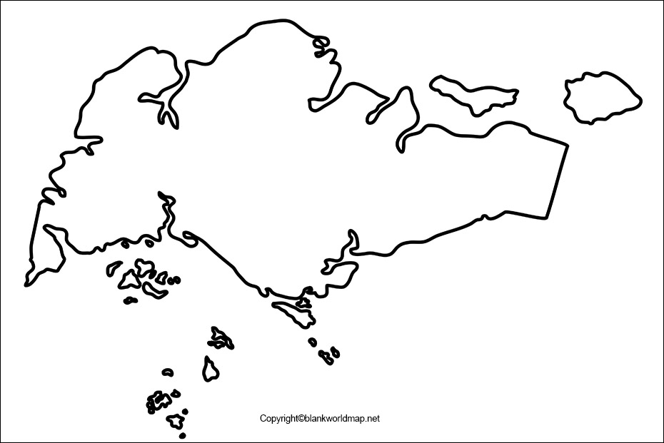 Blank Singapore Map Outline