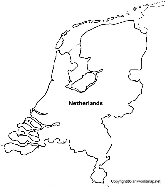 Transparent Netherlands PNG Map