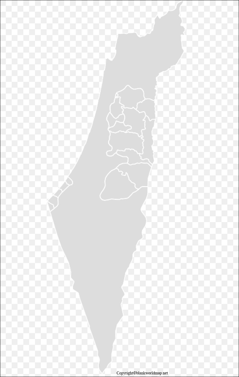 Transparent Palestine State PNG Map