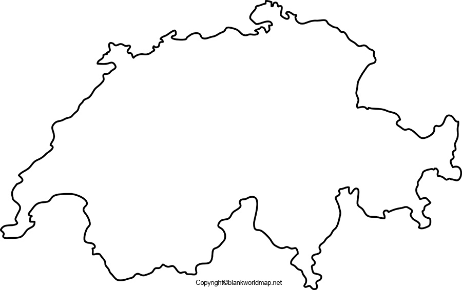 Blank Switzerland Map worksheet