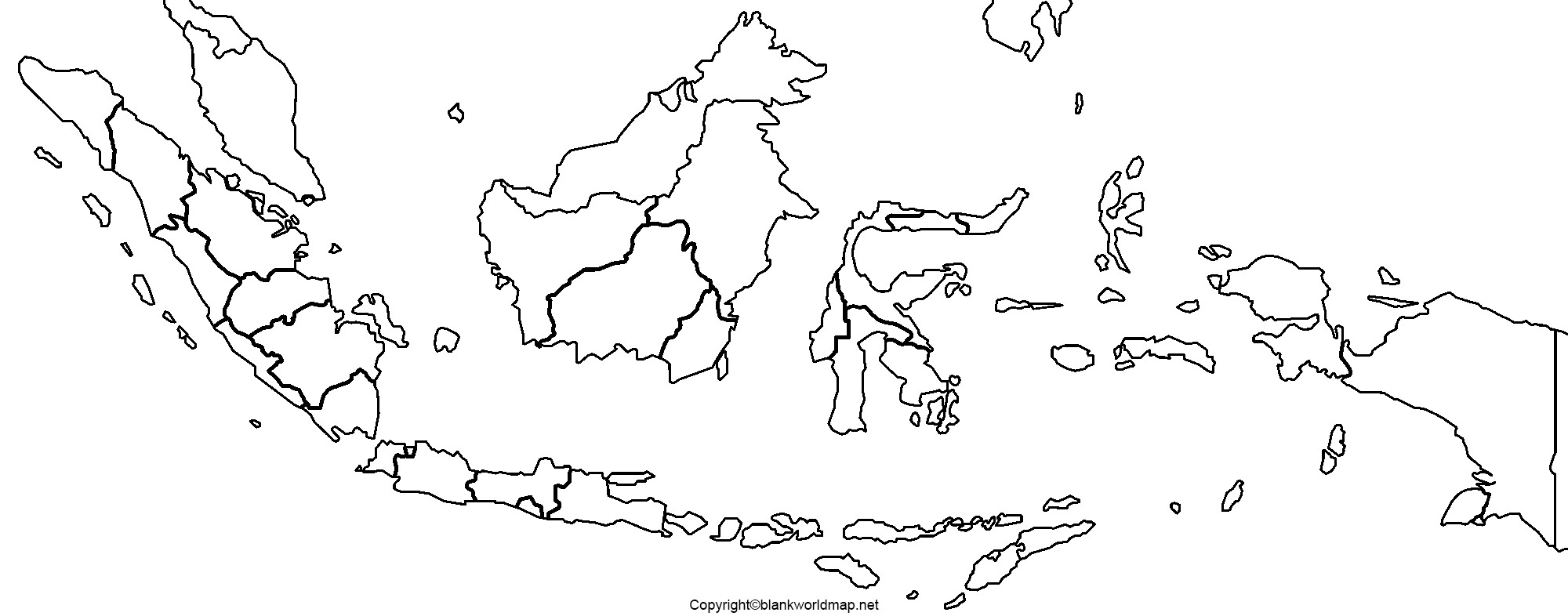 Blank Indonesia Map