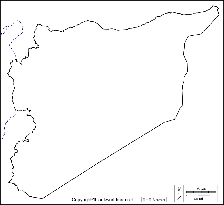 Blank Map of Syria