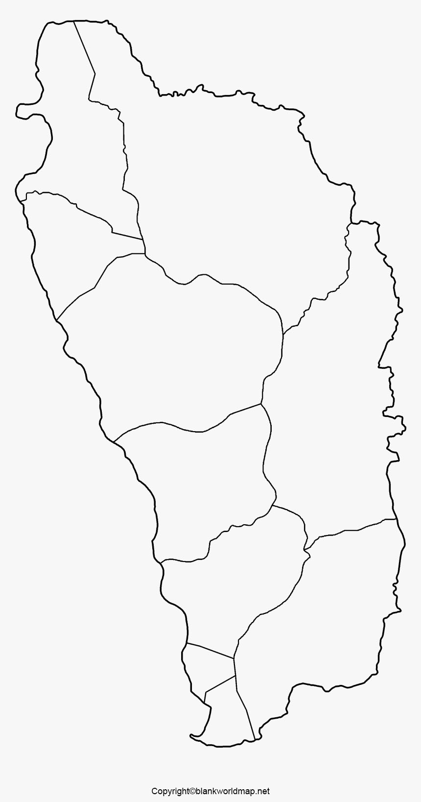 Dominica Blank Map Outline