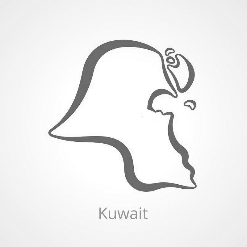 Blank Kuwait Map - Outline