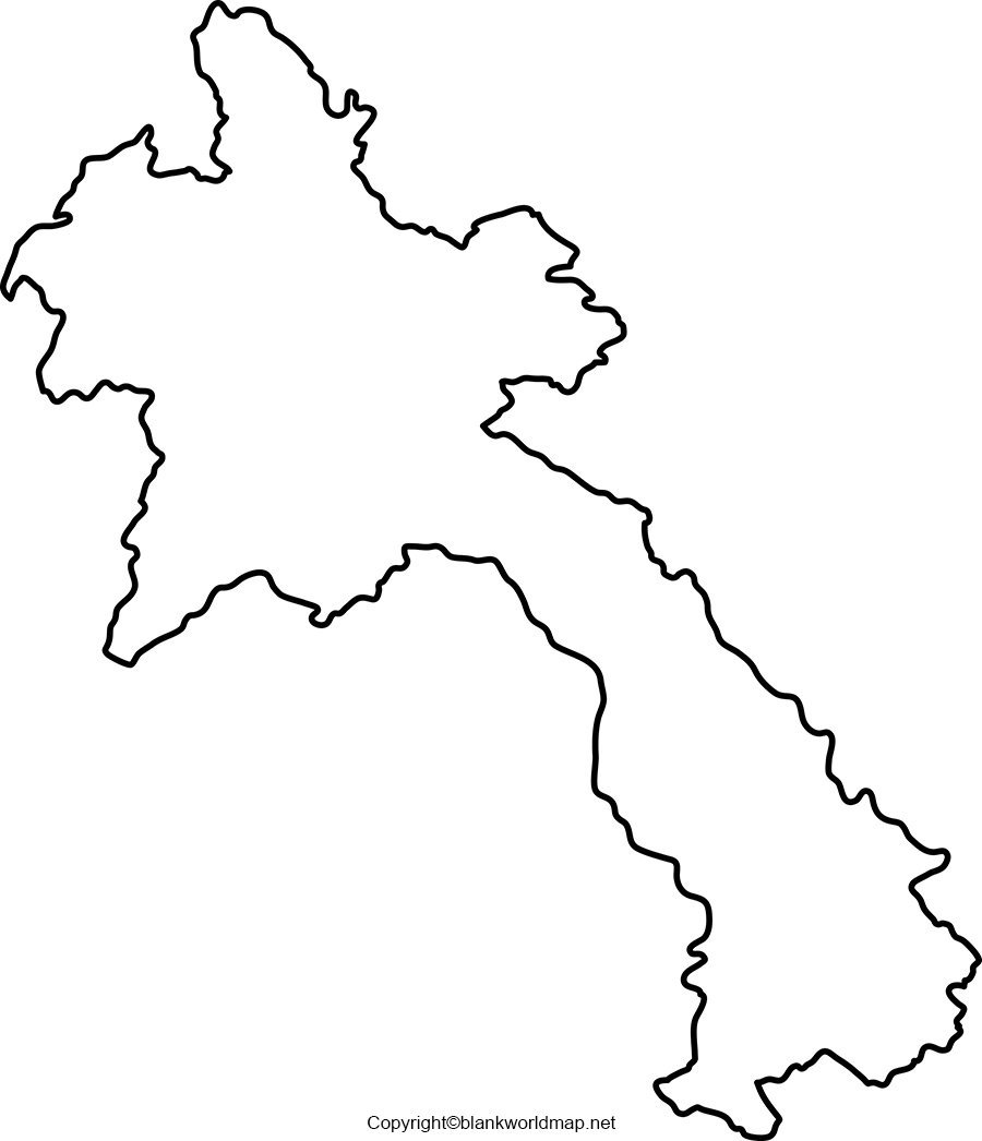 Laos Blank Map Outline