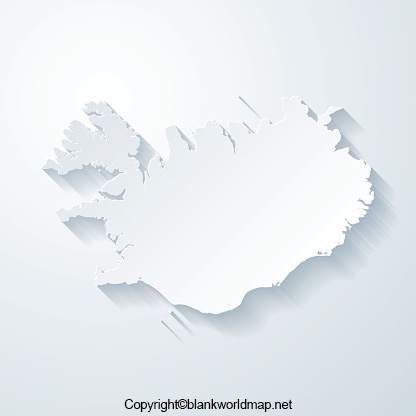 Map of Iceland for Practice Worksheet